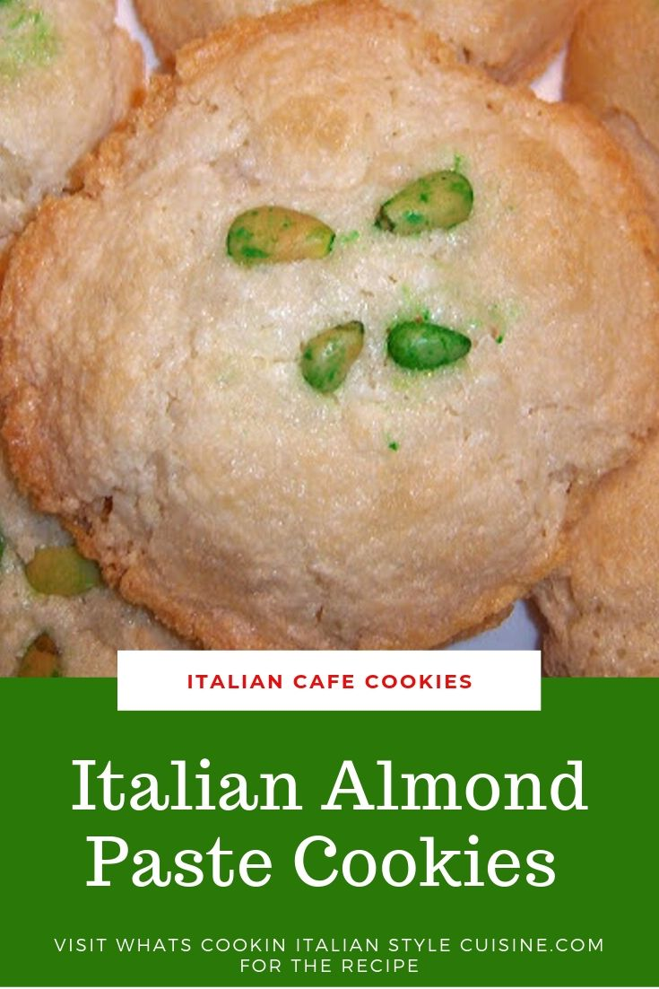 pin for later almond paste cookies