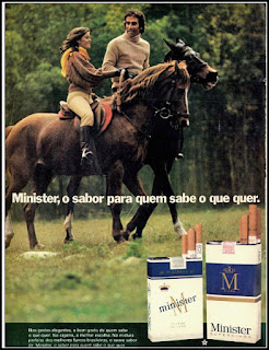 Propaganda cigarros Minister – 1976, cigarros Sousa Cruz anos 70, cigarros década de 70, cigarros anos 70, Oswaldo Hernandez,