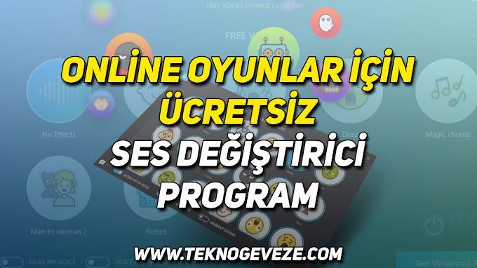 Online Oyun Ses Değiştirici Program