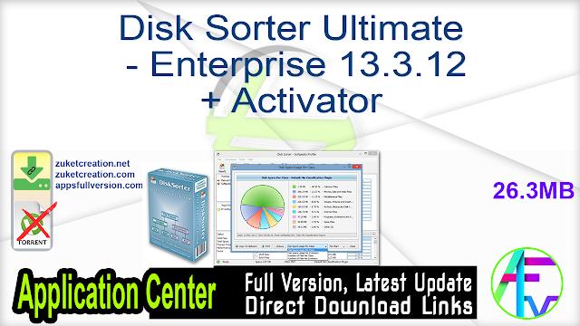 Disk Sorter Ultimate – Enterprise 13.3.12 + Activator