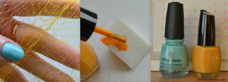 net fabric, cosmetic sponge, China Glaze For Audrey, WTF C38