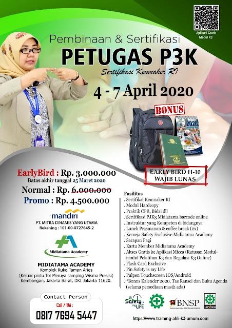 Petugas P3K murah tgl. 4-7 April 2020 di Jakarta