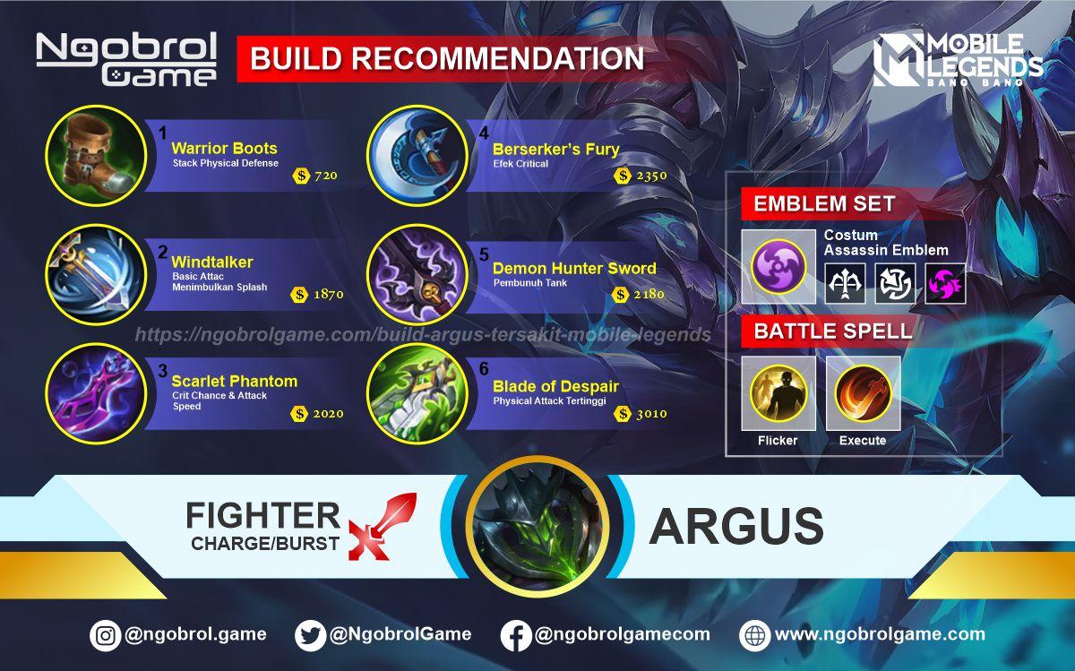 Build Argus Tersakit 2021 Mobile Legends