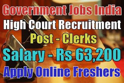 Indian High Court Recruitment 2019