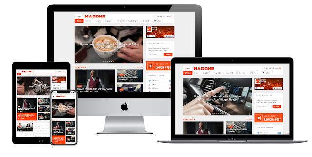 MagOne - Responsive News & Magazine Premium Blogger Template