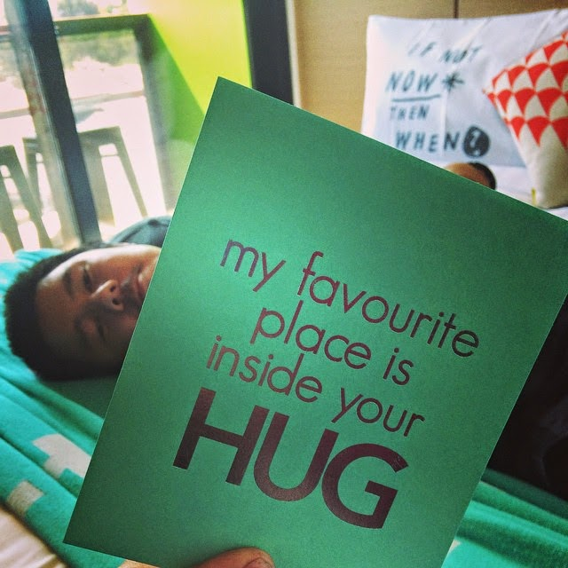 My favourite place is your hug