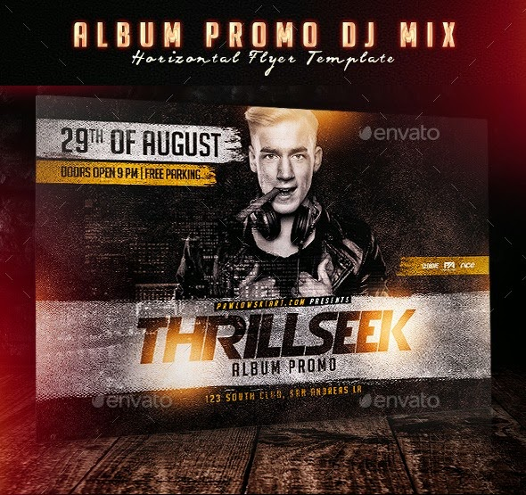 Album Promo DJ Mix Horizontal Flyer Template