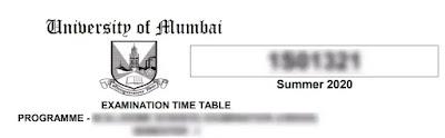 Download Mumbai University Time Table