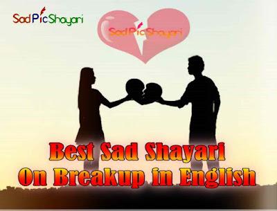 Best Sad Pic Shayari On Breakup in English