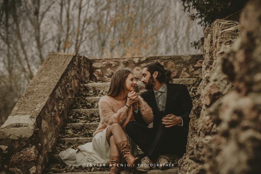 fotografo boda postboda otoño en sierra campo naturaleza