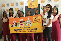Actress Priya Anand in T Shirt with Students of Shiksha Movement Events 33.jpg