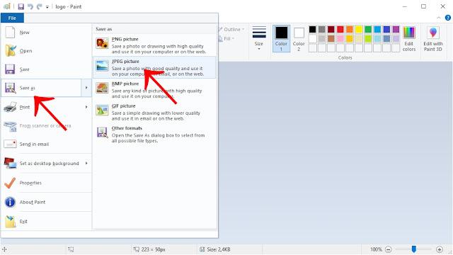 cara mengatasi Photoshop tidak bisa buka file gambar JPEG