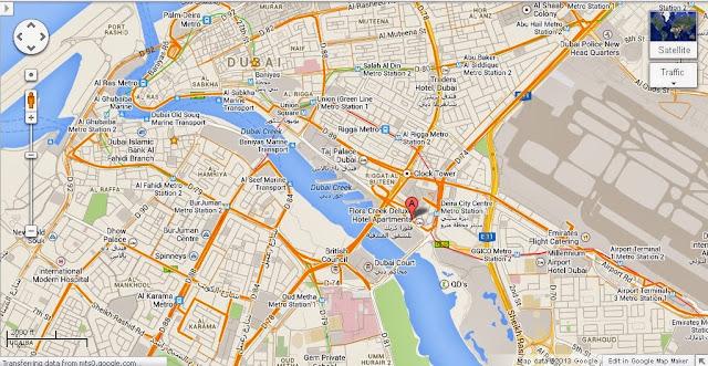 UAE Dubai Metro City Streets Hotels Airport Travel Map