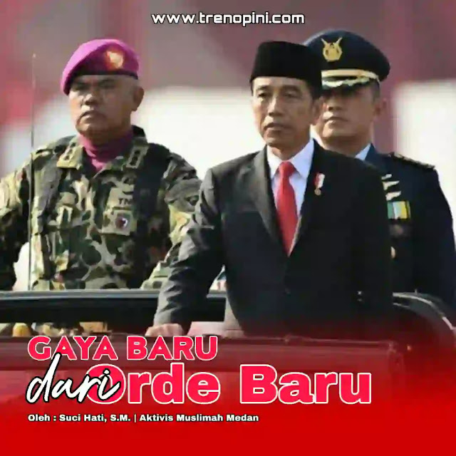Rentetan tudingan bahwa rezim Joko Widodo identik dengan zaman Orde Baru alias Orba di era Presiden ke-2 RI Soeharto terus terdengar di momen satu tahun di dua periode kedua pemerintahannya bersama Wakil Presiden Ma'ruf Amin. Tudingan tersebut bukanlah yang pertama kali,  tim hukum pasangan calon presiden dan wakil presiden nomor urut 02 Prabowo Subianto-Sandiaga Uno pernah menyinggung soal gaya otoriter orde baru Jokowi dalam permohonan sengketa Pilpres 2019 di Mahkamah Konstitusi (MK).