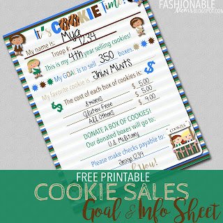 photo regarding Girl Scout Cookie Order Forms Printable titled My Contemporary Plans: Free of charge Printable: Cookie Profits Targets