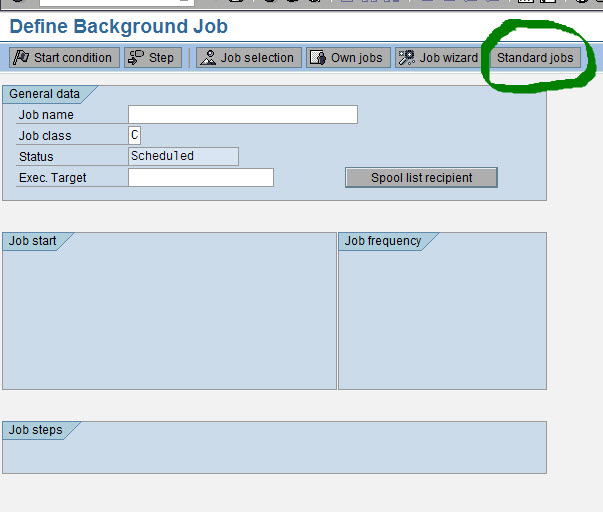 incase you would like to change the default schedule for each job it can also be done by selecting each job and defining its start datetime and