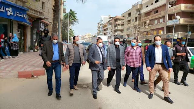 محافظ البحيرة يتفقد أعمال تطوير شارع عبد السلام الشاذلي