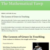 The Lesson Of Grace In Teaching - The Mathematical Yawp