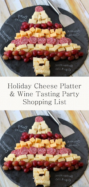 Holiday Cheese Platter & Wine Tasting Party Shopping List