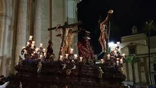 Santísimo Cristo del Perdón subiendo rampa de la Catedral. Semana Santa Cádiz 2019