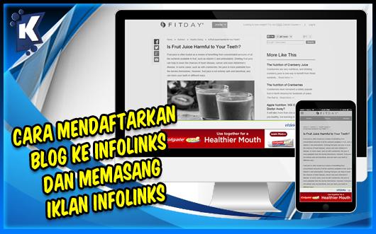Cara Mendaftarkan Blog ke Infolinks dan Memasang Iklan Infolinks