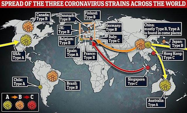 Распространение коронавируса по всему миру