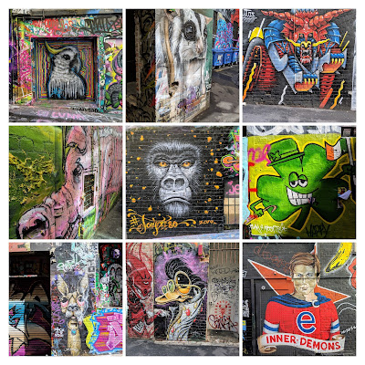 2 days in Melbourne: Melbourne Street Art Collage