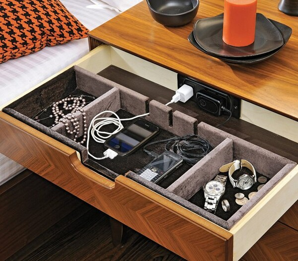 Elia 3 Drawer Nightstand with Power Dock