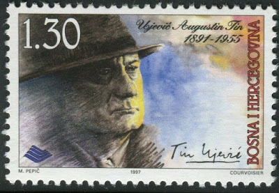 Tin Ujević 2017 stamp of Bosnia