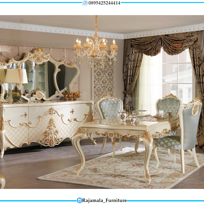 Meja Makan Mewah Terbaru Venesia Style Italian Luxury Carving RM-0126