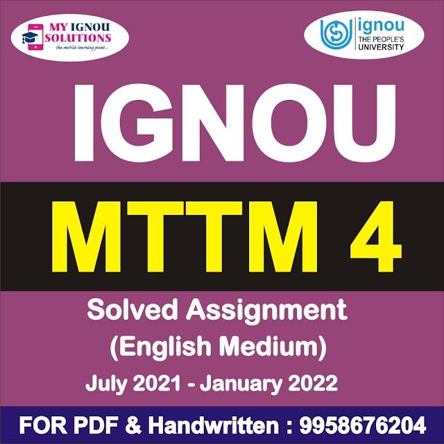 MTTM 4 Solved Assignment 2021-22