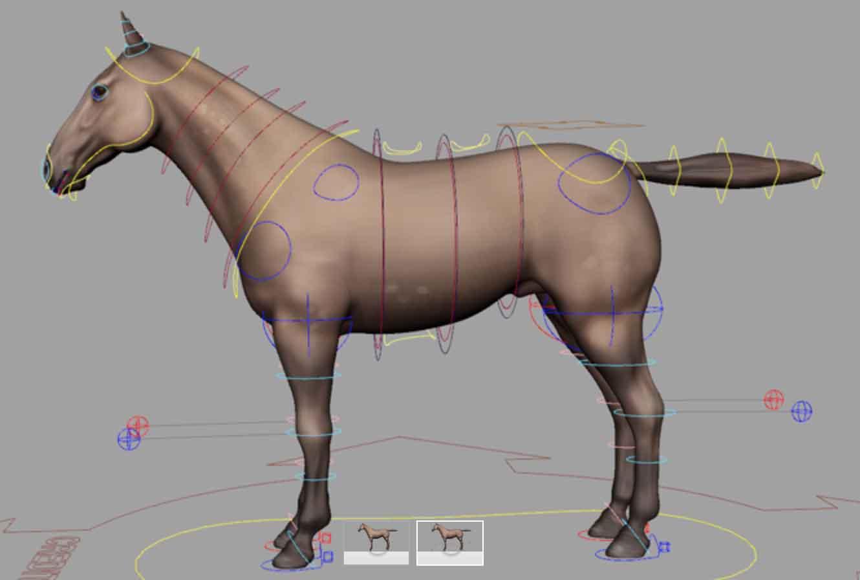 Bucks Animation Blog: Free Horse Rig for Maya Animators