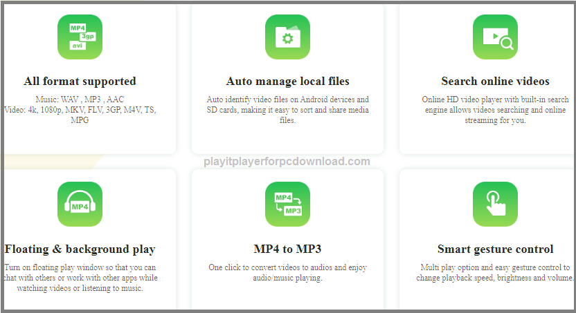playit for android tv features