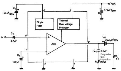 sanyo-la4275-power-amplifier-datasheet