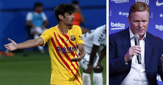 Barcelona coach Koeman impressed with 'excellent' Trincao on majestic debut