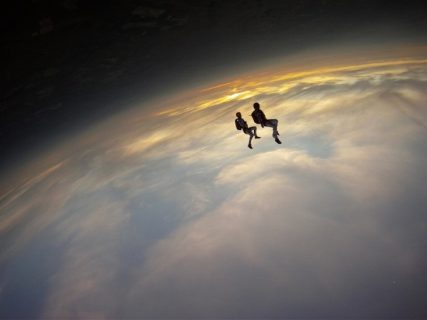 Mind (and space) bending skydive photo by Andy Godwin