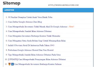 Sitemap Keren Responsive