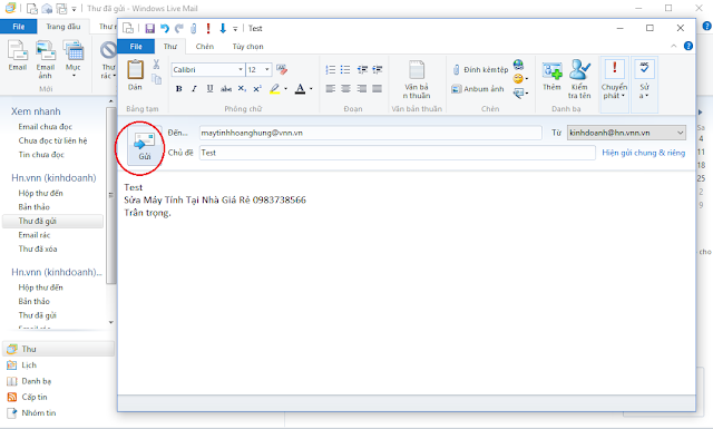Cấu hình windows live mail 2012 - H10