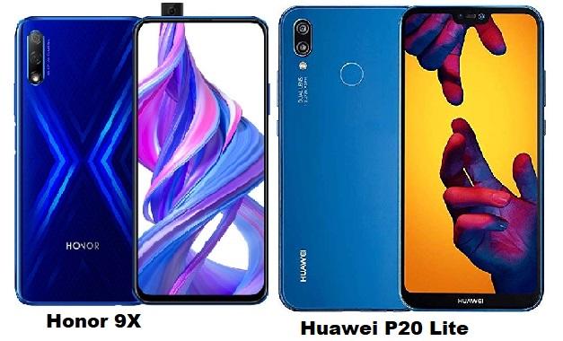 Huawei Honor 9X Vs Huawei P20 Lite Specs Comparison