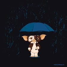 Gremlin bajo paraguas