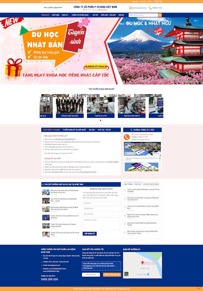 Mẫu website giáo dục & du học