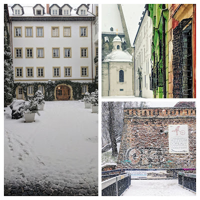 Is Bratislava worth visiting in winter: snow covered buildings