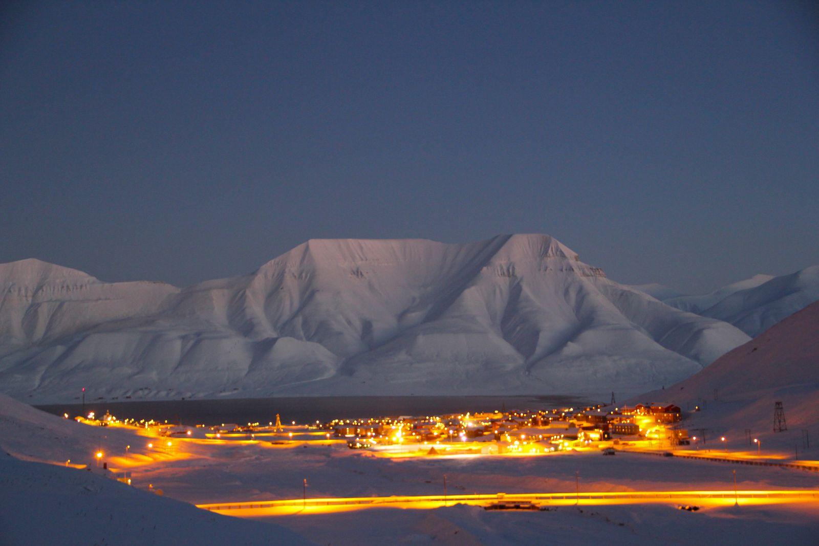 арктический вид Островов Шпицбергена