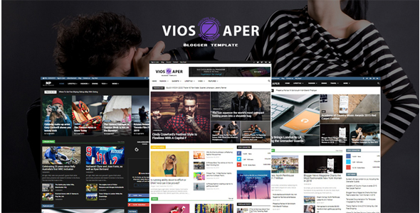 Mau Membuat Blog gaya Berita di Blogspot? Gunakan Template Viospaper Terbaru