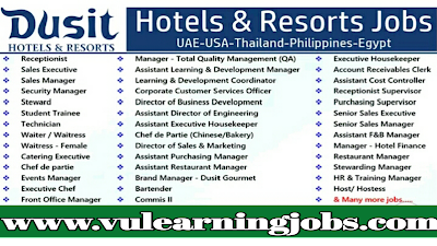 Dusit Thani Hotels || Career Opportunities || Jobs In Middle East & Europe