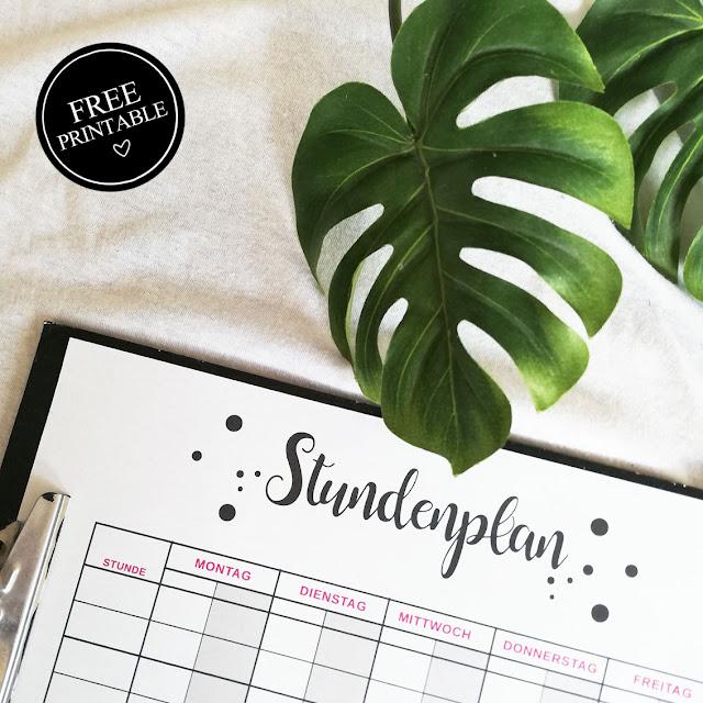Familienstundenplan - whatalovelday - Stundenplan - Free Printable - Familie - Planung - Schulanfang - ausdrucken
