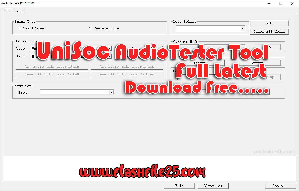 Download UniSoc AudioTester Tool Update Version Full Free