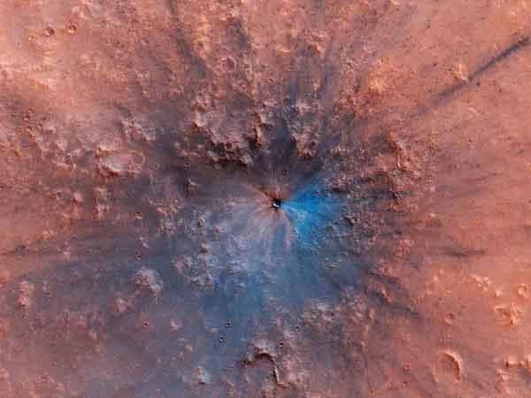 meteorito que caiu em Marte
