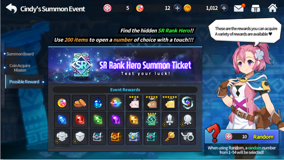 Cindy's Summon Event!