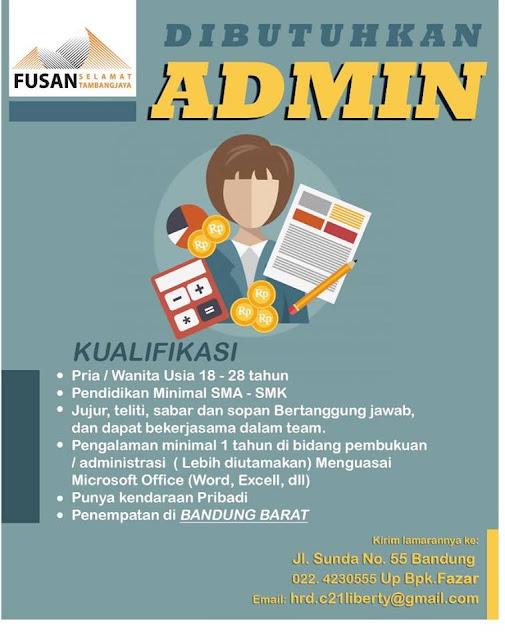 Loker Admin Bandung Barat